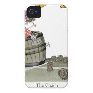 Coque iPhone 4 rouges d'entraîneur de football américain
