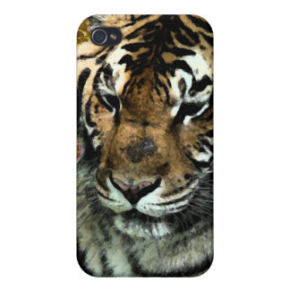 Coque iPhone 4 Tigre en métal