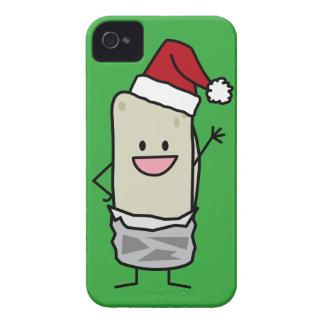 Coque iPhone 4 Vacances de ondulation de casquette de Père Noël