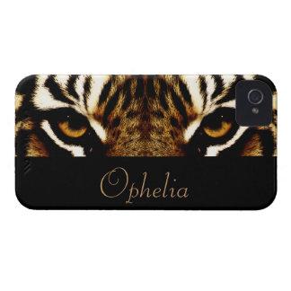 Coque iPhone 4 Yeux d'un tigre personnalisé