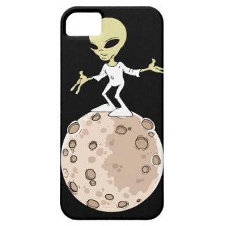 """Coque Iphone 5, 5S et SE """"Alien sur planète"""" iPhone 5 Case"""