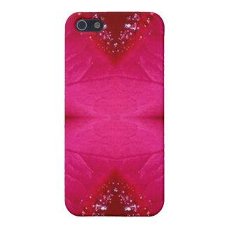 Coque iPhone 5 Art pur de pétale de rose - n rouge sang PinkRose