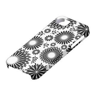 Coque iPhone 5 Boho fleurit le motif floral de vecteur noir et