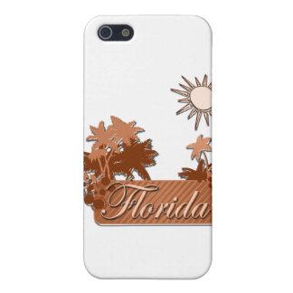 Coque iPhone 5 Brun de paumes et de Sun de la Floride