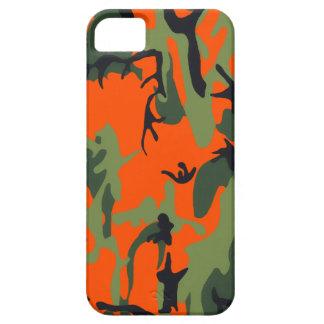 Coque iPhone 5 Camo orange et vert de sécurité