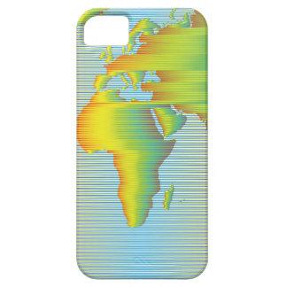 Coque iPhone 5 Carte du monde des bandes d'arc-en-ciel