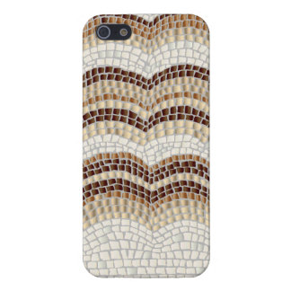 Coque iPhone 5 Cas brillant de l'iPhone 5/5s de mosaïque beige