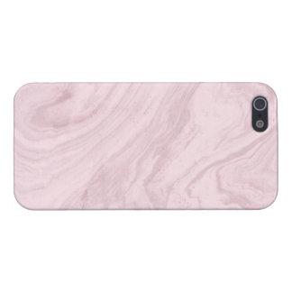 Coque iPhone 5 Cas brillant de marbre rose de finition de
