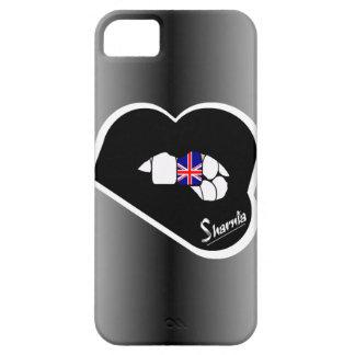Coque iPhone 5 Cas BRITANNIQUE de téléphone portable des lèvres