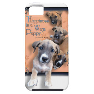Coque iPhone 5 Cas chaud heureux de téléphone de chiot
