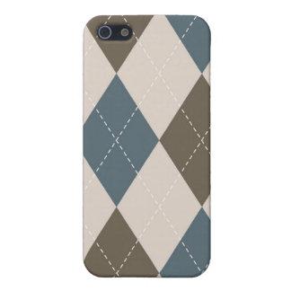 Coque iPhone 5 cas de l'iPhone 4 - Jacquard de diamant - olivier