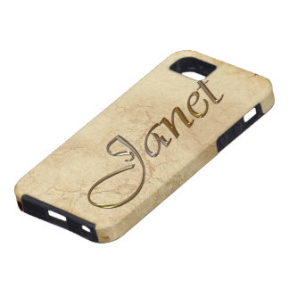 Coque iPhone 5 Cas de l'iPhone marqué par nom 5 de JANET