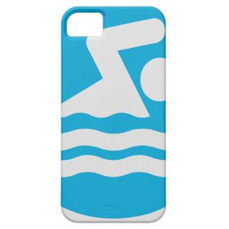 Coque iPhone 5 Case-Mate Caisse bleue et blanche faite sur commande de
