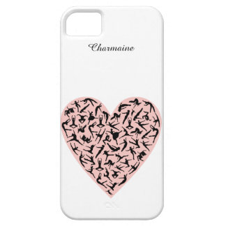 Coque iPhone 5 Case-Mate Cas assez rose de l'iPhone 5 de coeur de danse
