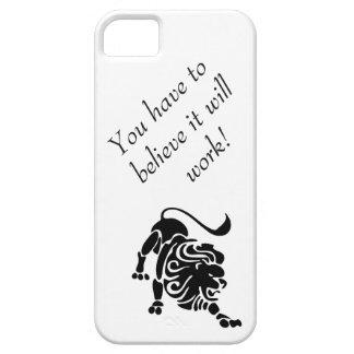 Coque iPhone 5 Case-Mate Cas déterminé de lion pour vous aider à maintenir