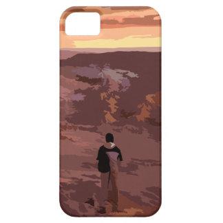 Coque iPhone 5 Case-Mate Cas rocheux de paysage d'homme seul