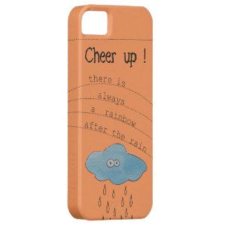Coque iPhone 5 Case-Mate Encouragez ! Nuage peint par aquarelle drôle