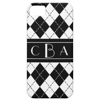 Coque iPhone 5 Case-Mate Jacquard noir et blanc de monogramme