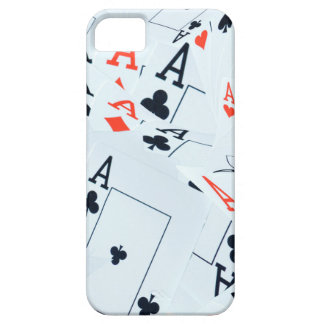 Coque iPhone 5 Case-Mate Le quadruple Aces le motif de cartes de tisonnier,