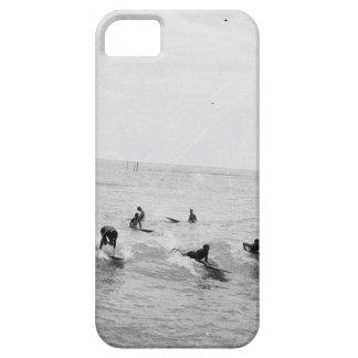 Coque iPhone 5 Case-Mate Les surfers sur Waikiki échouent, Hawaï, photo des