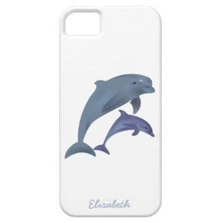 Coque iPhone 5 Case-Mate Nom sautant d'illustration de dauphins