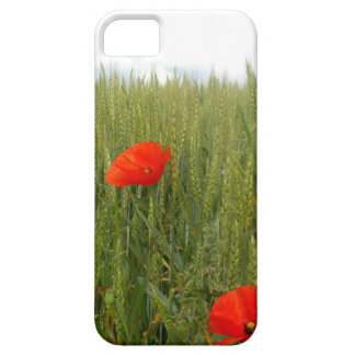Coque iPhone 5 Case-Mate Pavots dans un Se d'iPhone de champ de blé+cas