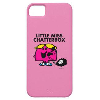 Coque iPhone 5 Case-Mate Petite Mlle Chatterbox et téléphone noir
