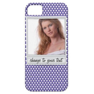 Coque iPhone 5 Case-Mate photoframe sur le polkadot blanc et pourpre