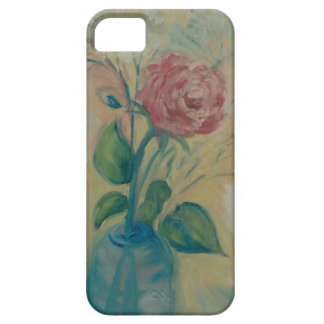 Coque iPhone 5 Case-Mate rose rouge mou dans un vase bleu