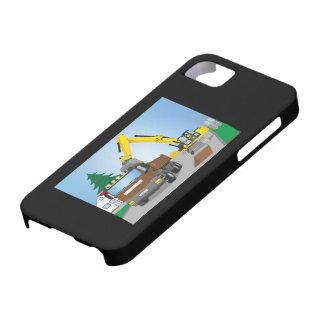 Coque iPhone 5 Case-Mate Straßenbaustelle avec le camion brun et