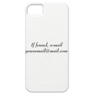 Coque iPhone 5 Case-Mate Téléphonez le cas pour ceux qui perdent leur