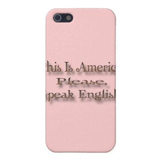 Coque iPhone 5 C'est l'Amérique parlent svp anglais