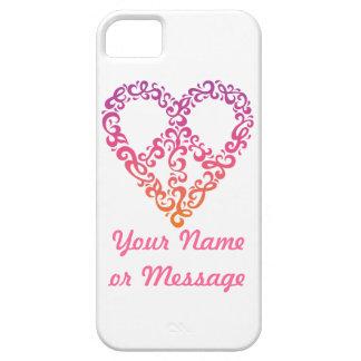 Coque iPhone 5 Couverture de l'iPhone 5 de Paix-Coeur