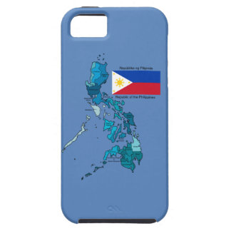 Coque iPhone 5 Drapeau et carte des Philippines