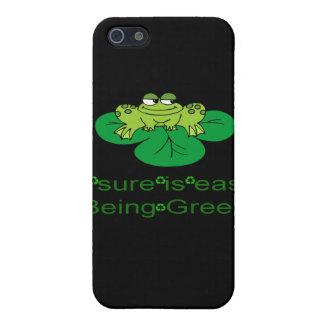 Coque iPhone 5 Être facile de grenouille cellule verte Pho de