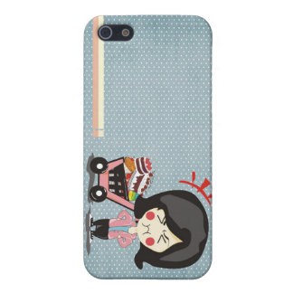 Coque iPhone 5 gâteau mat d'animation de cas de finition de