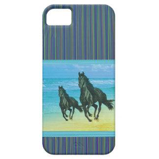 Coque iPhone 5 Ghora Chowpati - paire noire sauvage de cheval