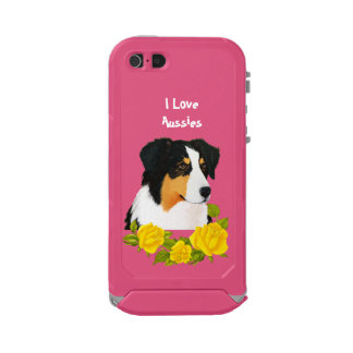 Coque iPhone 5 Incipio ATLAS ID™ Cas australien de l'iPhone 5 de roses du berger