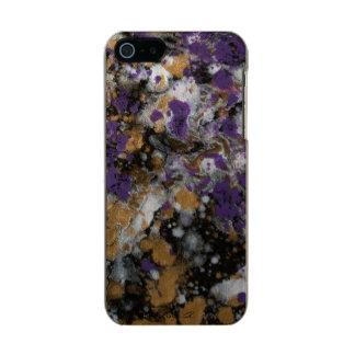 Coque iPhone 5 Incipio Feather® Shine Galaxie pourpre d'or de LineA