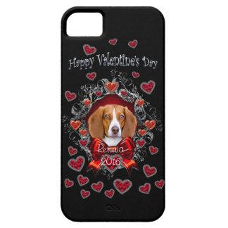 Coque iPhone 5 iPhone 5/5S de Saint-Valentin de beagle, à peine