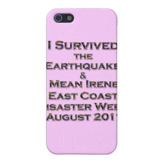 Coque iPhone 5 J'ai survécu au tremblement de terre et à