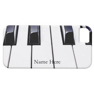 Coque iPhone 5 Le beau piano verrouille le cas de l'iPhone 5