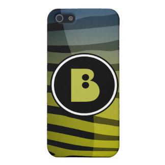 Coque iPhone 5 Lettre B i de monogramme de zèbre