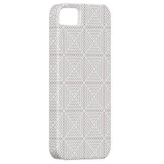 Coque iPhone 5 Motif à motifs de losanges de très bon goût blanc