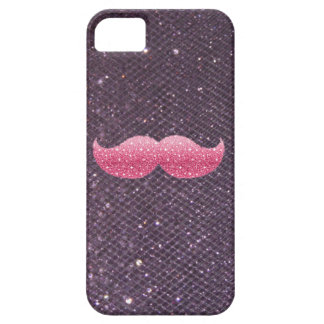 Coque iPhone 5 Moustache rose de parties scintillantes sur les
