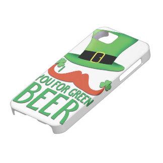 Coque iPhone 5 moustache vous pour le trèfle vert de moustache de