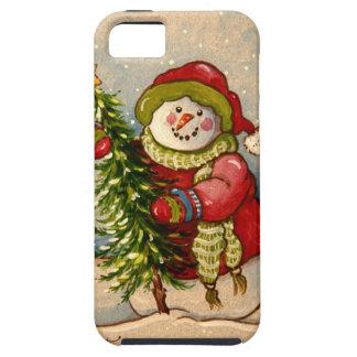 Coque iPhone 5 Noël de 4889 bonhommes de neige