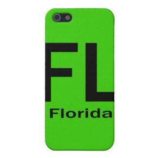 Coque iPhone 5 Noir simple de FL la Floride
