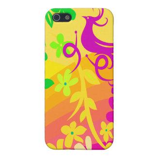 Coque iPhone 5 Oiseau exotique dans des couleurs tropicales