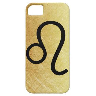 Coque iPhone 5 Or et caisse noire de symbole de lion de signe